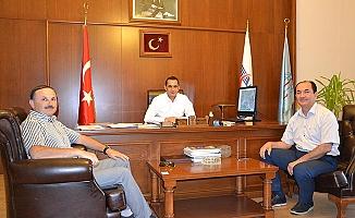 Kaymakam ve Belediye Başkanından TCDD'ye ziyaret