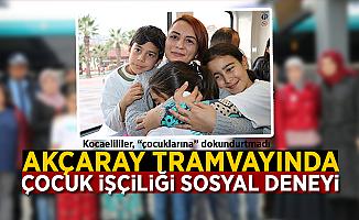 Akçaray Tramvayında Çocuk İşçiliği Sosyal Deneyi!