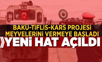 BTK Projesi meyvelerini vermeye başladı! Yeni demiryolu hattı açıldı