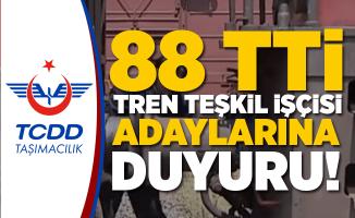 TCDD Taşımacılık A.Ş.'den 88 Personel Alım Açıklaması!