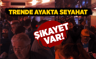 TCDD Trende ayakta seyahat şikayeti! Zonguldak Haberleri