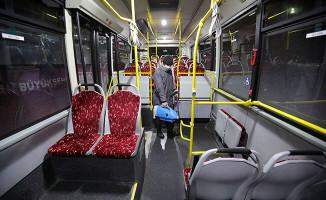 Otobüsler salgın hastalıklara karşı her gün temizleniyor