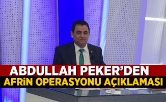 Abdullah Peker'den Afrin Operasyonu Açıklaması