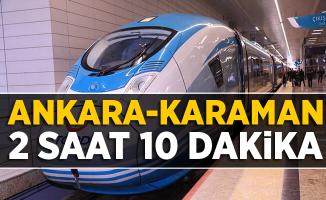 Ankara Karaman 2 saat 10 dakika