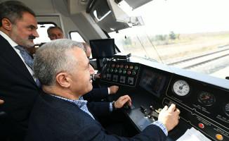 Bakan Arslan test sürüşünü yaptı! Konya-Karaman 40 dakika olacak