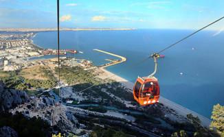 Antalya'da Tünektepe Teleferik'e Yoğun İlgi