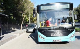 Erzurum'da Bayramın İlk Günü Toplu Taşıma Ücretsiz