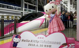 Japonya'da Hello Kitty temalı tren seferlerine başladı