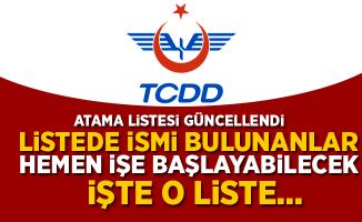 TCDD'ye Ataması Yapılanların Listesi Güncellendi (08.06.2018)