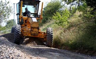 Bursa İznik'te Yol Çalışmaları Sürüyor
