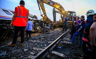Kaza sonrası demiryolu hattı açıldı