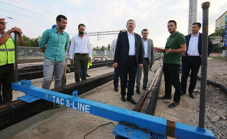 Sekapark-Plajyolu Tramvay Hattında Çalışmalar Hızla Devam Ediyor