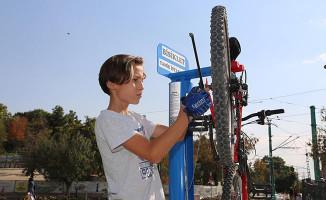Konya'da 26 Noktaya Bisiklet Tamir İstasyonu