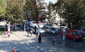 Sakarya'da Gar Yanındaki Minibüslere Yeni Durak Düzenlemesi