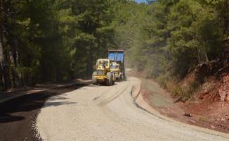 Serik Haspınar yolu asfaltlanıyor