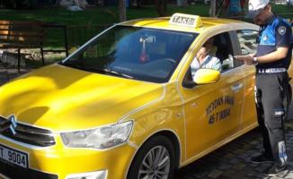 Soma'da Ticari Taksiler Denetimden Geçti