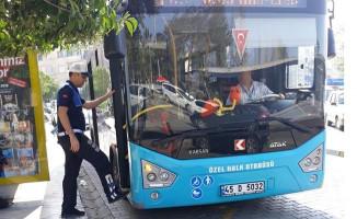 Salihli'de Toplu Taşıma Araçları Denetlendi