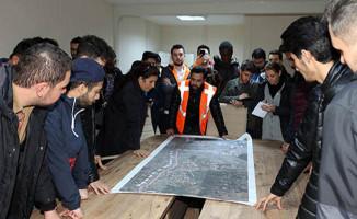 Akdeniz Üniversitesi Öğrencileri Raylı Sistem Projesini İnceledi