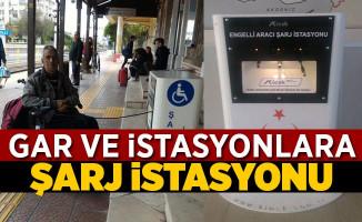 TCDD Garlarına Engelli Araçları İçin Şarj İstasyonları Kuruldu