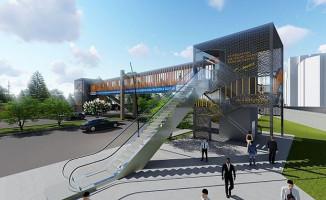 Adana'ya 9 Adet Asansörlü-Yürüyen Merdivenli Üstgeçit