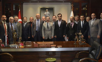 Demiryolculardan Başkan Ataç'a Ziyaret