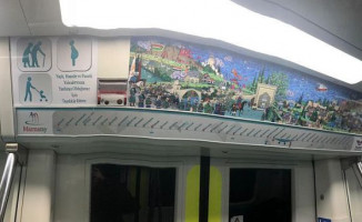 Marmaray Trenlerine Yeni Tabelalar Asıldı