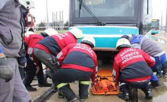 Kocaeli'de Tramvay Kazası Tatbikatı