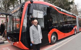 Manisa'da Elektrikli Otobüslerin Test Sürüşleri Devam Ediyor