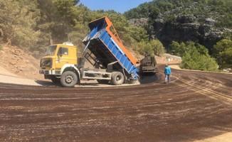 Alanya Yaylakonak yolunda asfalt çalışması tamamlandı
