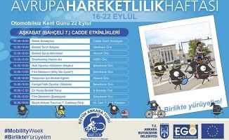 """Ankara'da """"Avrupa Hareketlilik Haftası"""" 22 Eylül'de Kutlanacak"""