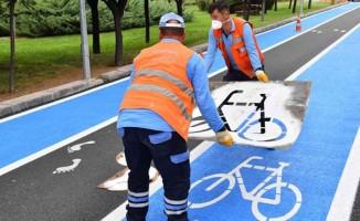 Ankara'ya 2 bin 500 metre bisiklet yolu