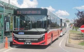 Samsun'da toplu ulaşımda kış tarifesine geçildi