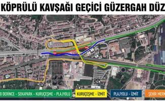 Mevlana Köprülü Kavşağı'na trafik düzenlemesi