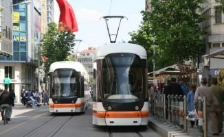 Eskişehir'de tramvay ile taşınan yolcu sayısında büyük düşüş