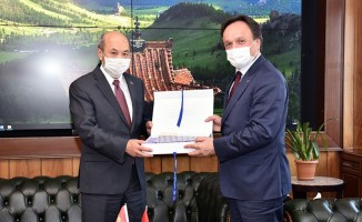 Moğolistan Büyükelçisi TCDD Genel Müdürü Uygun'u Ziyaret Etti