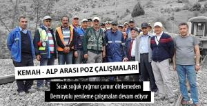 Kemah - Alp Arası Yol Yenileme Çalışmaları Devam Ediyor