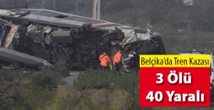 Belçika'da Tren Kazası 3 Ölü 40 Yaralı