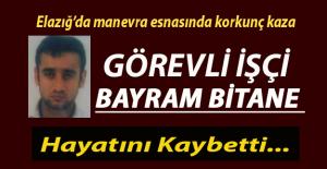 Elazığ'da trenin çarptığı Tren Teşkil İşçisi Bayram Bitane hayatını kaybetti.