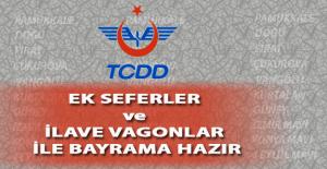 TCDD Ek Seferler ve İlave Vagonlar ile Bayrama Hazır