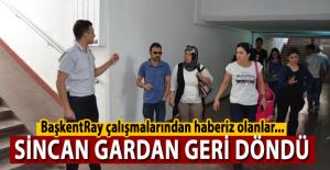 BaşkentRay çalışmalarından habersiz olanlar Sincan Gardan geri döndü