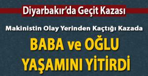 Diyarbakır'da tren otomobil ile çarpıştı baba ve oğlu yaşamını yitirdi