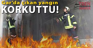 Manisa Turgutlu garında yangın! 1 Vagon hasar gördü