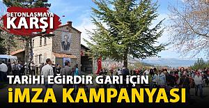 Eğirdir Halkından Tarihi Gar için imza kampanyası