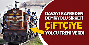 Demiryolu şirketi tazminat olarak çiftçiye yolcu treni verdi!