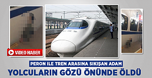 Peron ile Tren Arasına Sıkışan Adam Öldü! İşte O Anlar