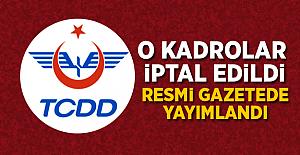 TCDD Kadrolarında Değişiklik Resmi Gazetede Yayımlandı