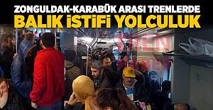 Zonguldak-Karabük arası trenlerde balık istifi yolculuk