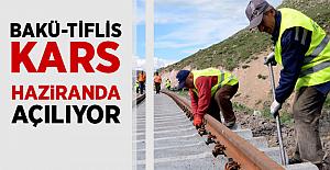 Bakü-Tiflis-Kars Demiryolu haziranda açılıyor