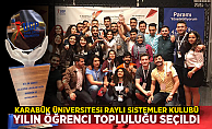"""Karabük Üniversitesi Raylı Sistemler Kulübü """"Yılın Öğrenci Topluluğu"""" seçildi"""