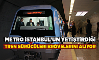 Metro İstanbul'un yetiştirdiği tren sürücüleri bröve alıyor